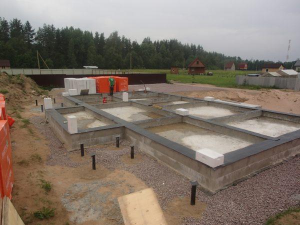 Фундаментная плита, фото