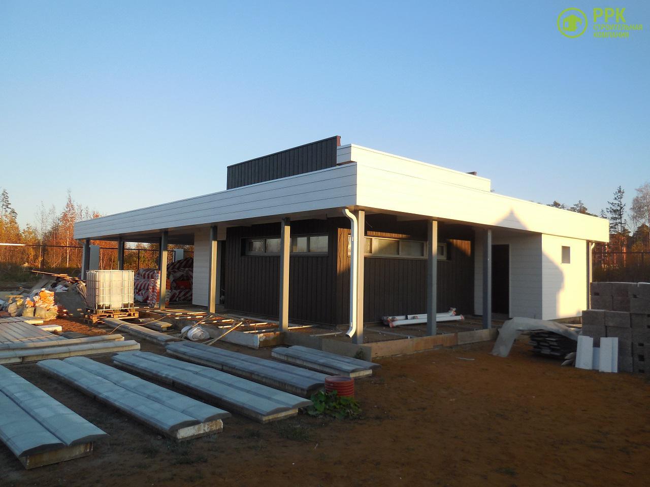 Строительство дома, фиброцементный сайдинг