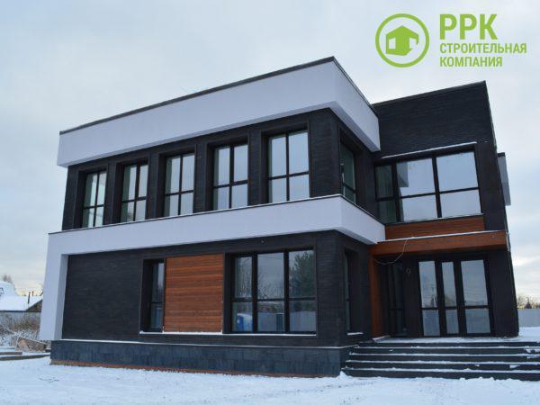 Дом в современном стиле с комбинированным фасадом